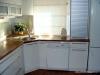Kuchyň bílá, dvířka lesklá
