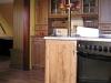 Kuchyň tmavý dub s kredencem